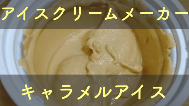 貝印アイスクリームメーカーのブルーベリーアイスのキャラメルアイスのレシピ