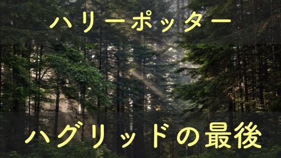 ハリーポーターの森の番人の最後を解説